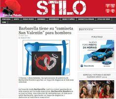 La camiseta de Barbarella (http://www.barbarella.es/tiendabarbarella/) especial San Valentín para hombres destacada en Stilo http://stilo.es/2013/01/barbarella-tiene-su-camiseta-san-valentn-para-hombres/