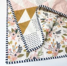 Peach Puzzlecloth Modern Baby Quilt-Wholecloth Baby Girl Quilt-Baby Quilt Blanket-Floral Baby Quilt, Boho Baby Quilt, Indie Baby Quilt by WildLittles on Etsy