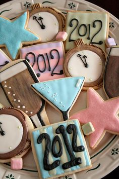 New Year's Eve Cookies. by navygreen, via Flickr