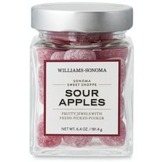 Sonoma Sweet Shoppe, Sour Apples ($5.99) ❤ liked on Polyvore featuring fillers, food, food and drink, sweets, accessories, backgrounds and magazine