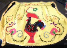 Vintage 60s 70s Portuguese apron Unused souvenir by TheWaterFairy, $12.00. I have one of these hanging in my kitchen