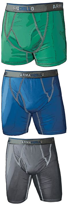 Don't steam your oysters, put em on ice with Armachillo Underwear! Comes in Short Boxer Briefs, Boxer Briefs & Extra Long Boxer Briefs. Check them out now!