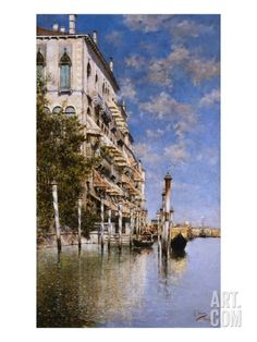 Along the Grand Canal Giclee Print by Rafael Senet at Art.co.uk