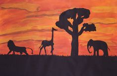 Landscape Positive And Negative, Negative Space, Skyline Silhouette, Moose Art, Student, Landscape, Animals, Scenery, Animales