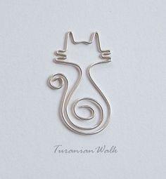 MirrMurr cat wire bookmark by TuranianWalk on Etsy