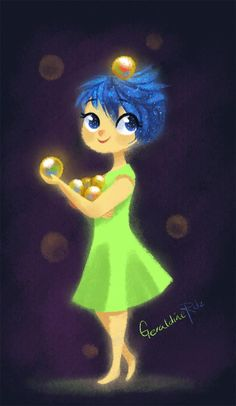 Joy from Inside Out by Geraldine Rodriguez for Sketch Dailies