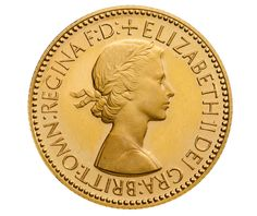 1953 Royal Mint Sovereign - portrait by Mary Gillick