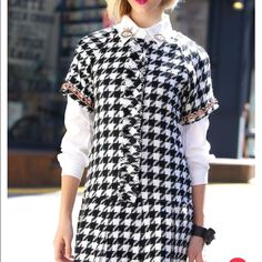 Storets houndstooth micro mini Storets micro mini houndstooth dress. Worn once🎈🎈 Storets Dresses Mini