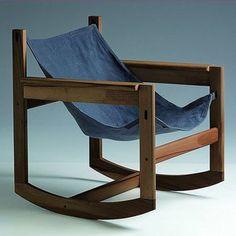 sillón mecedora moderno de madera PELICANO by Michel Arnoult Objekto
