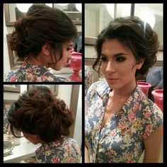 Messy updo! Classic