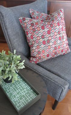 A new chair and cushions for our staging stock this Spring!