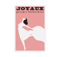 Joyaux - Ballet Poster French Print Vintage Retro Printed Pink Poster Wall Art Home Decor 24x36 -...