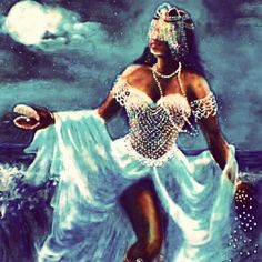 Black Love Art, Black Girl Art, Black Girl Magic, Art Girl, African Mythology, African Goddess, Oshun Goddess, Goddess Art, Yemaya Orisha