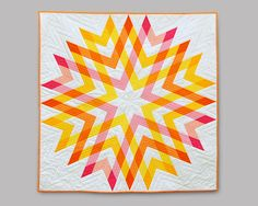 Outburst is a PDF quilt pattern for the intermediate level quilter. This pattern is for the quilt top only. The pattern contains two color options as well Star Quilts, Mini Quilts, Quilt Blocks, Scrappy Quilts, Baby Quilts, Star Blocks, Quilt Festival, Quilting Projects, Quilting Designs