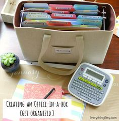 Creating an Office-in-a-Box {Get Organized} - EverythingEtsy.com