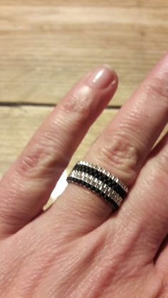 Ook leuk 😊 miyuki kralen ring. Was even puzzelen maar is goed gelukt.