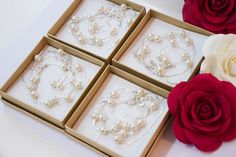 5 Bridesmaids gifts-Pearl Jewelry sets by MyPearlDreams on Etsy