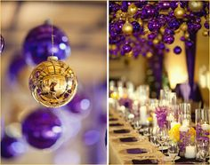 Purple & gold. Would be cool in lots of different color combos