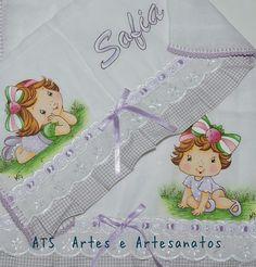Kit fralda ombro + babita Moranguinho baby