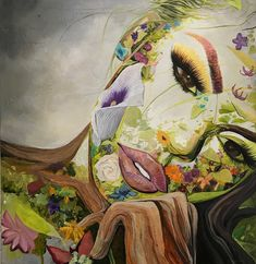 BK The Artist Mother Earth Surreal Portrait Exhibit DOMINO:Surreal Portraits Celebrate 'Mother Earth' With Women Made Out of Nature Art Et Nature, Nature Drawing, Nature Artwork, Art Inspo, Collage Kunst, Art Amour, Surreal Art, Surreal Portraits, Ouvrages D'art