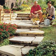 How to Build a Garden Path complete with video