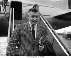 Clark Gable - London Airport - Stock Image