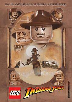 Des legos ont remplacé les héros de ces grands films sur des affiches.