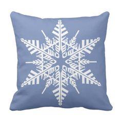 Personalize this Snowflake Pillow - chic design idea diy elegant beautiful stylish modern exclusive trendy