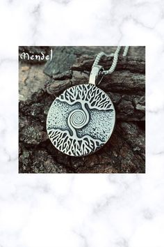 Stainless Steel Celtic Tree of Life Spiral Pendant Men Necklace, Pendant Necklace, Celtic Tree Of Life, Stainless Steel Metal, Native Indian, Fantasy Jewelry, Ancient Civilizations, Spiral, Handmade Items