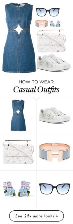 """Casual 8"" by acacia97 on Polyvore featuring Courrèges, Dolce&Gabbana, M2Malletier, Hermès and Tiffany & Co."
