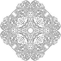 Dover Publications: Sun & tree mandala to color Doodle Coloring, Mandala Coloring Pages, Coloring Book Pages, Printable Coloring Pages, Free Coloring, Mandalas Drawing, Zentangles, Zeina, Mosaics