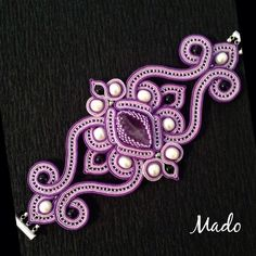 24 Ideas embroidery jewelry tutorial soutache earrings for 2019 Soutache Bracelet, Soutache Jewelry, Beaded Jewelry, Jewellery, Textile Jewelry, Embroidery Jewelry, Beaded Embroidery, Embroidery Monogram, Hand Embroidery Designs