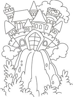 Fairy castle coloring pages | Download Free Fairy castle coloring