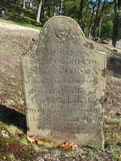 In Memory of JAMES C. GRIFFIN and his son THOMAS who was unfortunately drowned on the 13th Sept'r 1810 the Father in the 50th the son in the 19th year of their Ages