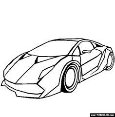 lamborghini sesto elemento online coloring page - Lamborghini Black And White Drawing