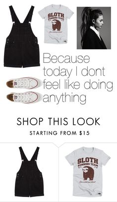 """""""Untitled #2"""" by alexx00 ❤ liked on Polyvore featuring Monki and Converse"""