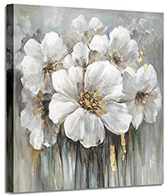 Wall art botanical pictures painting white lily bouquet of flowers oil painting floral artwork print on wrapped canvas for walls Flower Painting Canvas, Oil Painting Flowers, Flower Canvas, Abstract Flowers, Canvas Artwork, Painting Prints, Paintings, Canvas Canvas, Acrylic Flowers