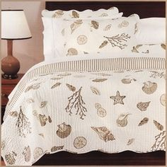 tan seashell bedding