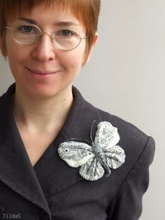 Handmade felted brooch Butterfly Cloud by TildaSFelt on Etsy, $21.00