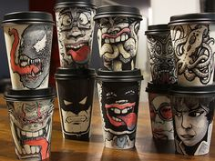 Hey peeps here's some more awesome #coffee cup art #packaging PD
