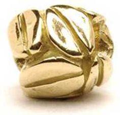 Trollbeads- Mocha 14kt gold bead.