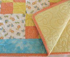 Baby Quilt Handmade Baby Quilt Blanket Noahs by SticksNStonesGifts, $60.00