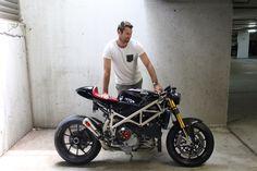 Ducati 1098 cafe racer by N Stiles.