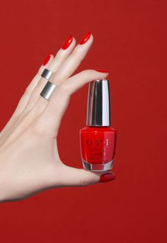 Your new go-to summer red: To the Mouse House We Go in Infinite Shine Opi Gel Nail Polish, Opi Nails, Opi Red, New Makeup Ideas, Vacation Nails, Peach Nails, Nail Photos, Gel Color, Hair And Nails