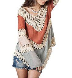 VIISHOW Women's V-Neck Long Sleeve Knit Splice Irregular Hem Blouse Tops - http://houseofjunque.com/product/viishow-womens-v-neck-long-sleeve-knit-splice-irregular-hem-blouse-tops -