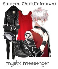 """Saeran Choi(Unknown) from Mystic Messenger"" by kayxiv1256 ❤ liked on Polyvore featuring Comptoir Des Cotonniers, Paige Denim, Alexander Wang and Giuseppe Zanotti"