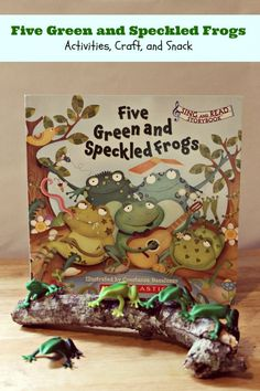 Five Green and Speckled Frogs Craft and Snack