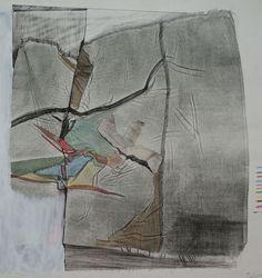 1983-L-D-00  monotype print, drawing  林孝彦 HAYASHI Takahiko 1983