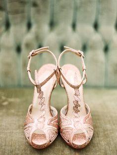 Rose Gold Wedding Shoes, Rose Gold Shoes, Glitter Shoes, Bridal Shoes, Bridal Sandals, Glitter Wedding, Pink Shoes, Pink Glitter, Sparkle Shoes