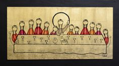 , Last Supper Art, The Last Supper Painting, Lords Supper, Biblical Art, Holy Week, Bible Crafts, Festivals, Last Supper, Suppers